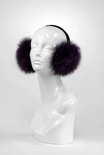 Eggplant Fox Earmuffs