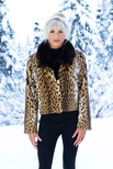 Lippi Cat Jacket with Natural Mink Collar