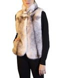 Natural Cross Mink Vest