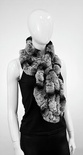 EG05 Chinchilla : Rabbit Fur Pull Through Scarf