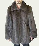 Natural Long Hair Hazel Beaver Jacket B/L 33""
