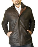 English Lamb Jacket with Shearling Collar B/L 29""