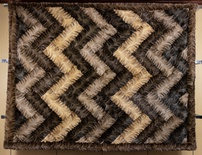Russian Sable Sectional Chevron-Design Blanket