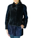 Shearling lamb Jacket with Nappa lamb Piping B/L 30""