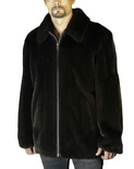 Natural Long Hair Mink Jacket B/L 31""