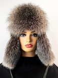 Sheared Beaver Hat with Fox Front and Flaps