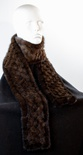 Cross-Knitted Mahogany Mink Scarf