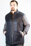 Men's Shearling Reversible Vest