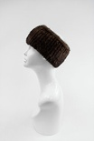 KSH11 - Brown : Knitted Mink Fur Headband, Stretch for comfort