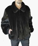 Natural Long Hair Mink Bomber Reversible to Italian Lamb B/L 30""