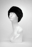 EG28 - Black : Knitted Rabbit Fur Headband, Stretch for comfort