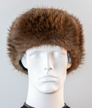 Natural Beaver Trooper Hat with Leather Crown