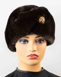 Ranch Mink Russian Hat with Golden Button