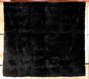 Dyed Black Chinchilla REX Blanket