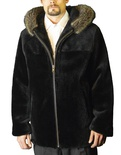 Sheared Beaver Bomber Hooded with Raccoon Trim B/L 31""