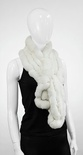 EG05 - White : Rabbit Fur Pull Through Scarf