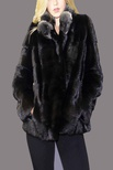Natural Mink Jacket with Natural Chinchilla Collar