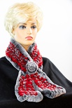 Knitted Chinchilla REX Rosette Scarf