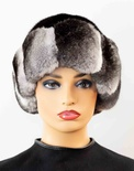 Ranch Mink Crown Hat with Natural Chinchilla Trim