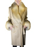 Cashmere Jacket with Golden Isle Fox Trim B/L 36""