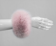 C1 - Soft Pink : Fox Fur Cuffs (1 pair)