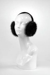 Black Long Hair Beaver Earmuffs