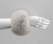C1-Natural Blue : Fox Fur Cuffs (1 pair)