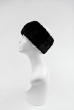 KSH11 - Black : Knitted Mink Fur Headband, Stretch for comfort