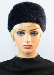 "Knitted Mink with Elastic Headband 10"" Length"