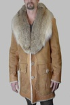 Shearling with Coyote Shawl Collar B/L 35""