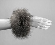 C1 - Indigo : Fox Fur Cuffs (1 pair)