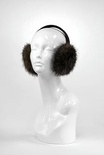 Brown Long Hair Beaver Earmuffs