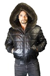 American Raccoon Jacket Reversible to  Italian Nappa Lamb Leather B/L 34""