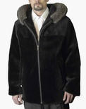 Sheared Beaver Bomber with American Raccoon Trimmed Hood B/L 31""