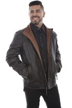 TWO TONE COLLAR LEATHER JACKET