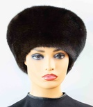 Ranch Mink Full Skin Stand-Up Beret Hat