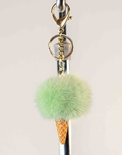 Mink Ice Cream Cone Key Chain