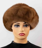 Full Skin Mink Stand-Up Beret Hat