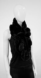 EG05 - Black : Rabbit Fur Pull Through Scarf