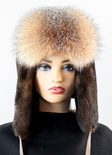 Sea Otter Musher Hat with Crystal Fox Front