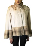 Sheared Rovalia Mink Jacket with Natural Rovalia Mink Trim