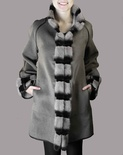Cashmere Jacket with Mink Trim Reversible B/L 32""