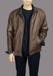 English Lamb Leather Jacket with Zipper-Front