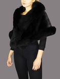 Mink Black with Black Fox Trim