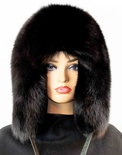 Black Fox Full Skin Musher Hat