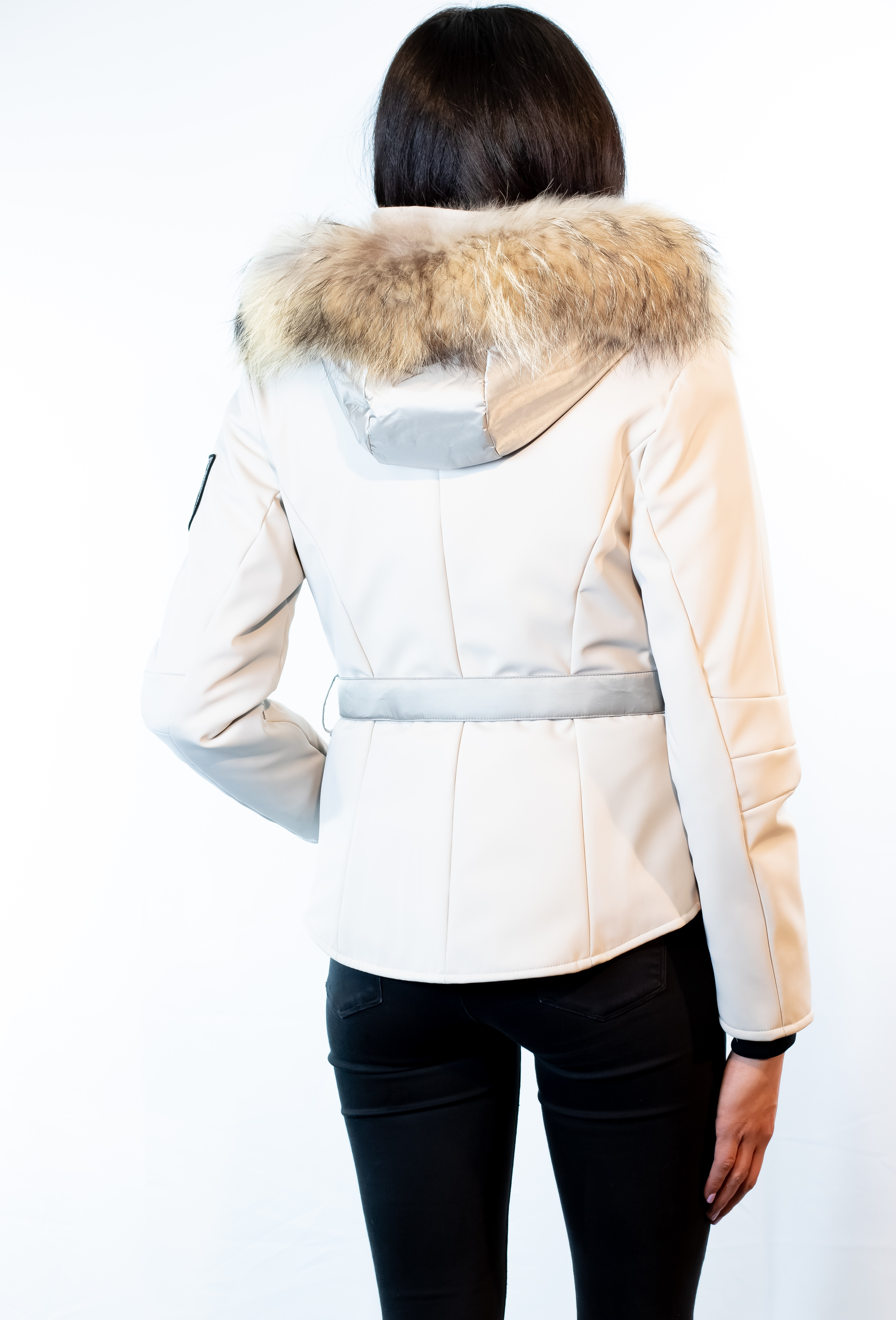 Insulated Soft Shell Hooded Jacket with Finnish Raccoon Ruff