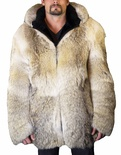 Coyote Bomber Parka / Hood Lined with Sheared Beaver B/L 34""