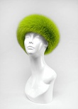 100 - Lime Green : Full Fur Fox Headband with Velcro on the back for right adjustment.